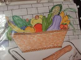 900x675 fruit and vegetable basket by audreyhepburncrazy vegetable basket painting