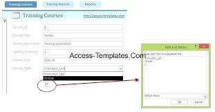 Access 2013 Templates Employee Training Database Template New Employee Training Calendar