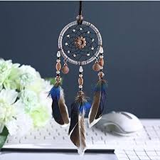 Dream Catcher For Car Mirror Enchanting Amazon Karleksliv Secret Blue With Black Feather Small Size