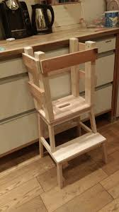 Ikea hack = attach a step stool and bar stool together for a Toddler Tower  that your little one can stand on to help you around the kitchen.