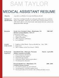Medical Assistant Resumes Examples Wonderful 24 Inspirational Entry Level Medical Assistant Resumes Samples