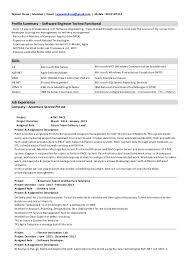 asp resume sample