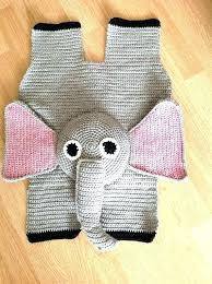 elephant nursery rugs rug baby by for crochet home business ideas pattern d elephant baby rug