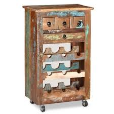 Shop vidaXL <b>Wine Rack</b> for 9 Bottles <b>Solid Reclaimed</b> Wood ...