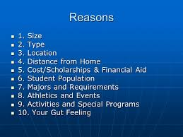 ceip top reasons to choose a college what to do search the  3 reasons 1