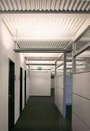 wave installed with a concealed grid corrugated metal ceiling l37 ceiling