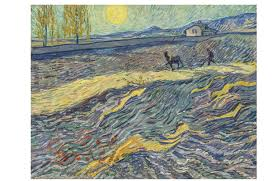 vincent van gogh s farmer in a field st rémy which the