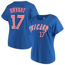Details About Womens Majestic Kris Bryant Royal Chicago Cubs Name Number T Shirt