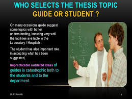thesis writing t v rao md 7 8 who selects the thesis topic