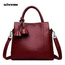 women bag high quality leather tote brand name bag las handbag lady evening bags solid female messenger bags travel fashion s leather purses
