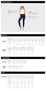 Jean Size Chart Juniors Junior Jeans Plus Size Junior Jeans Ymi Jeans
