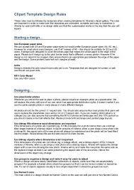 Clipart Template Design Rules Xara