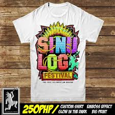 T Shirt Image For Design Sinulog T Shirt Embossed Glow In The Dark Design Available