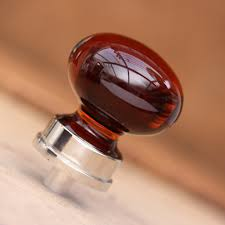 Glass Kitchen Cabinet Knobs Home Furniture Design 40mm Wood And