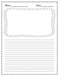 printable kindergarten writing paper templates  printable kindergarten writing paper