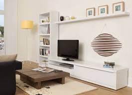 Small Picture White Lacquered Bookcase Wall TV Cabinet Design Valley TV Unit