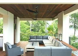 patio ceiling fans outdoor deck fan outside porch ceiling fans patio contemporary with wood cushions lighting metal r outdoor ceiling fans with lights wet
