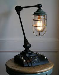industrial desk lamp. (via Vtg Antique Industrial Steampunk Desk Lamp Upcycled Machine Age Light | EBay)