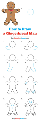 drawing tutorial for 736x2176 how to draw a gingerbread man