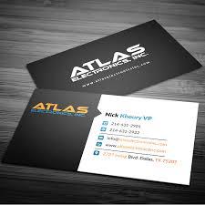 Masculine Bold Business Business Card Design For Atlas Electronics