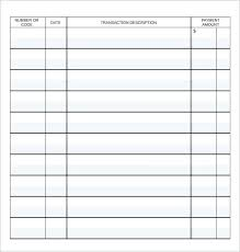 Check Ledger Checkbook Ledger Template Brrand Co