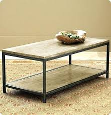 table coffee table metal frame wooden and legs black iron round with wood top