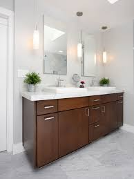 contemporary bathroom idea in san francisco with shaker cabinets and a vessel sink