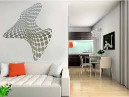Small Picture Mirror Sticker Wall Decor Ideas for Spacious Room Design