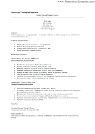 Cover Letter Massage Therapist Resume Massage Therapist Clinical