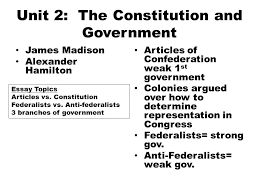 mid term review wednesday th m c questions  unit 2 the constitution and government james madison alexander hamilton articles of confederation weak 1