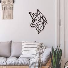 metal wall art geometric dog animal