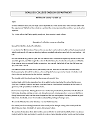 reflective essay self teachers