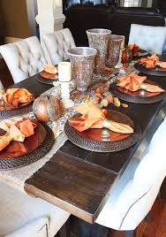 Fall Dining Room Table - Love these mosaic looking vases. Would look great  for any