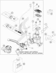 Hand brake cylinder ktm 350 exc f six days 2016 eu