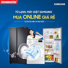 NguyenKim (nguyenkim.com) - 🔥🔥TỦ LẠNH MÁY GIẶT SAMSUNG🔥🔥 ⏰Thời gian:  06.08 - 31.08.2019 🎁Tủ lạnh, máy giặt Samsung có giá ưu đãi cực HOT khi  mua online tại Nguyễn Kim Mua ngay