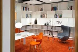 orange office furniture. library style room with orange chairs and carpet in funky designer office furniture c