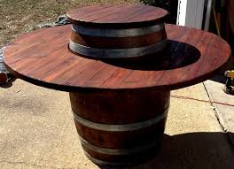 oak barrel furniture all of our wine barrel tables come with a cover for the center