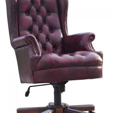 leather office chair. Leather Chesterfield Nadia Office Chair