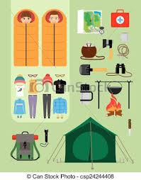 sleeping bag clip art for girls. camping concept. boy and girl in sleeping bags next to tent with campfire. - bag clip art for girls