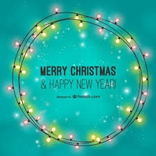 Send beautiful christmas ecards from 123cards. Free Vector Merry Christmas Card With Light Bulbs