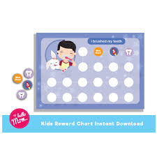 Teeth Cleaning Sticker Chart Right Teeth Cleaning Reward Chart 2019