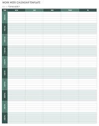 calendar templates weekly 15 free weekly calendar templates smartsheet