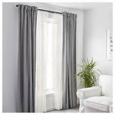 IKEA Window Curtains Bedroom Net Blinds Net Panels Sheer Off-White ...
