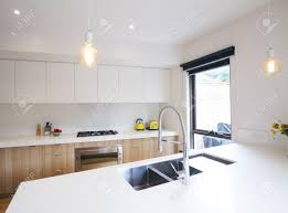Modern Kitchen Pendant Lights Modern Kitchen With Pendant Lighting And Sunken Sink In Island