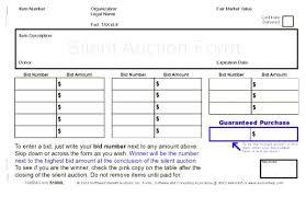 Silent Auction Bid Sheet Template Printable 5 6 Rafaelfran Co