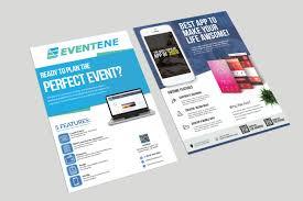 Design Flyer App Design Mobile App Promotion Flyer Brochure And Roll Up In 24 Hours