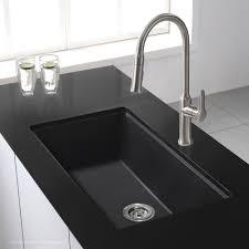 black undermount sink. Exellent Undermount KRAUS 31 Inch Undermount Single Bowl Black Onyx Granite Kitchen Sink Intended M