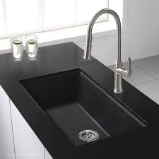 kraus 31 inch undermount single bowl black onyx granite kitchen sink