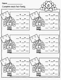 fact family worksheets for first grade simple... | MATH ...