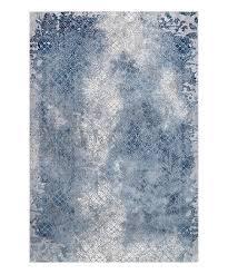 blue white fl shimmer haze geometric rug
